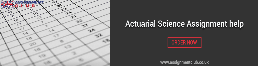 Buy Actuarial Science Assignment Help