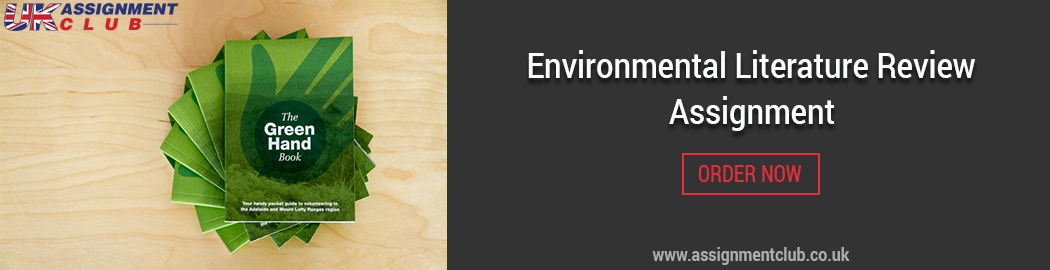Buy Environmental Literature Review Assignment